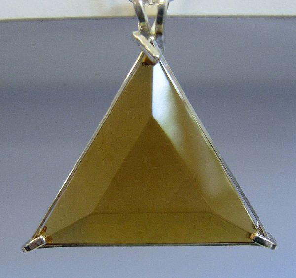 Star of David Vogel Pendant: Gold Siberian Quartz