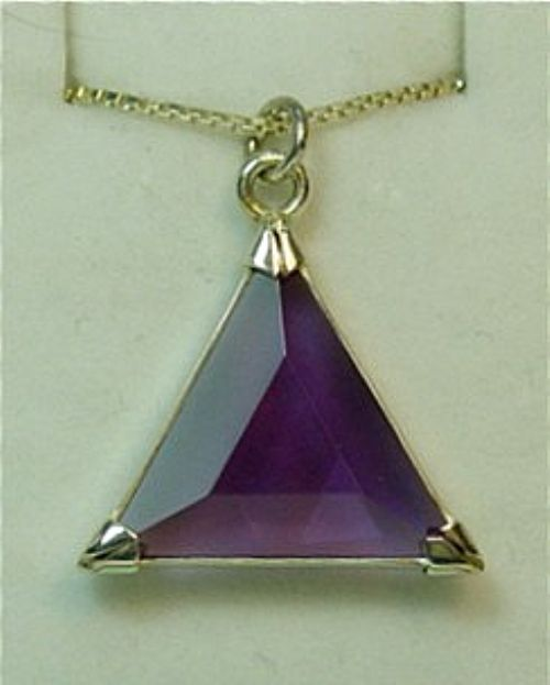 Star of David Vogel Pendant: Purple Siberian Quartz