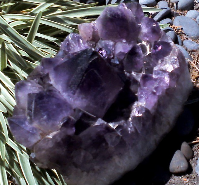 Brazilian Amethyst Large Point Cluster